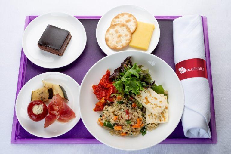 Virgin Australia's new in-flight menu
