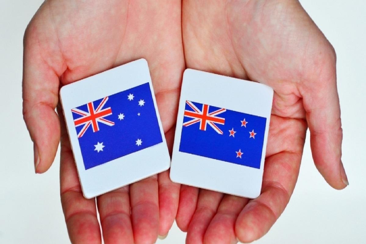 australia new zealand flags