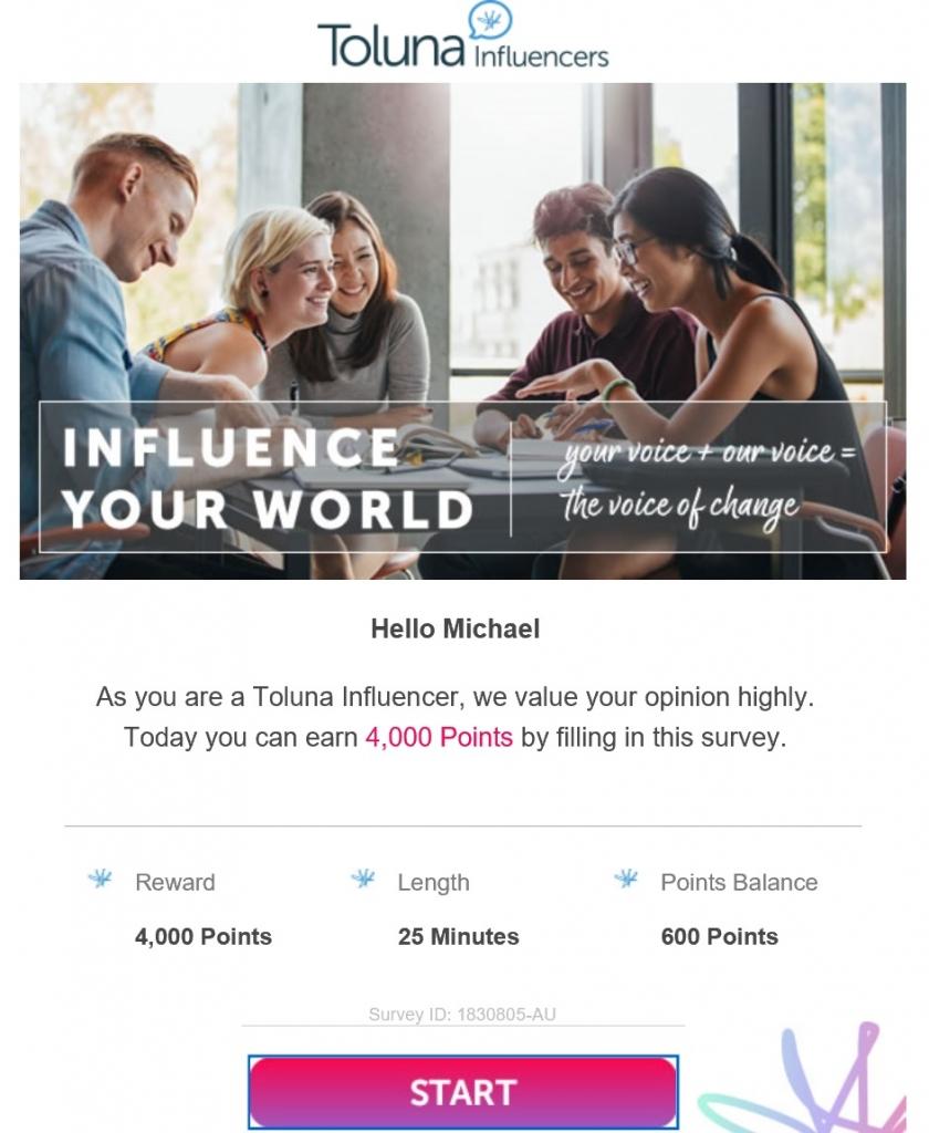 toluna invite survey email