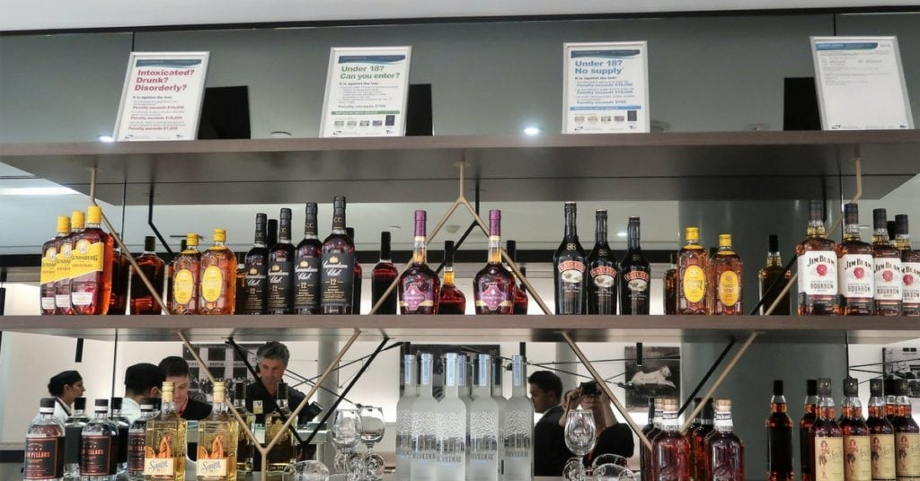American Express Melbourne Lounge bar open 1