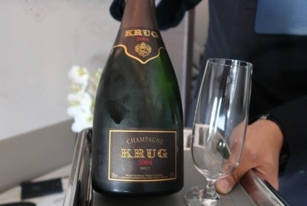 Singapore Airlines A380 first class suite new Krug Champagne