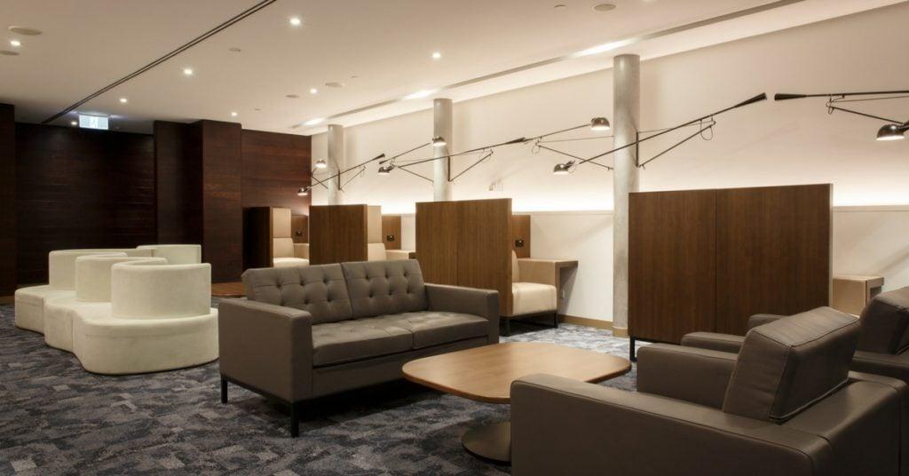 comfortable amex lounge seating