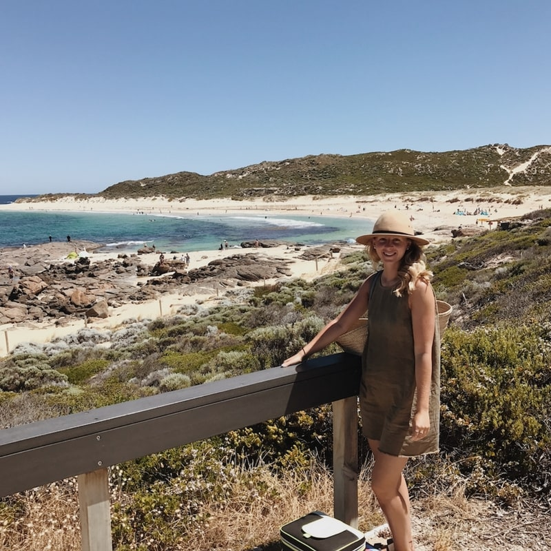 Lauren on a recent trip to Margaret River - frequent flyer points