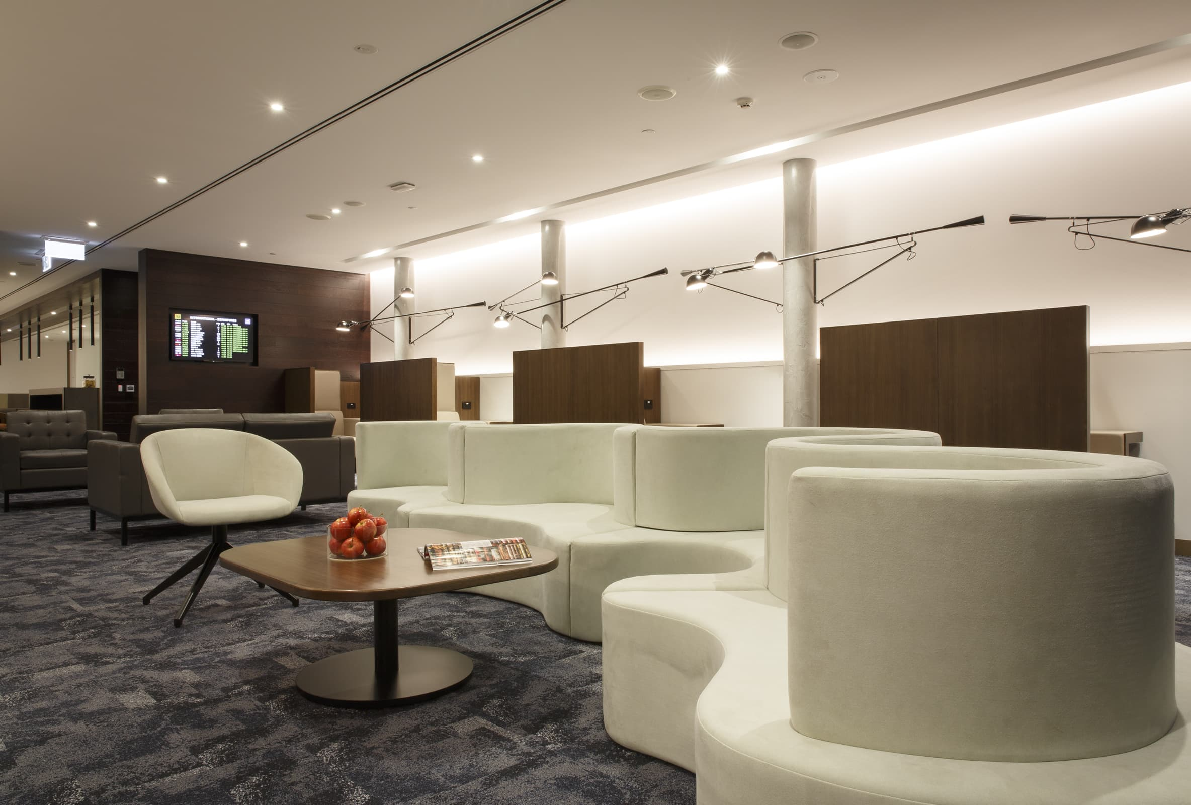 American Express Lounge Melbourne Airport seating