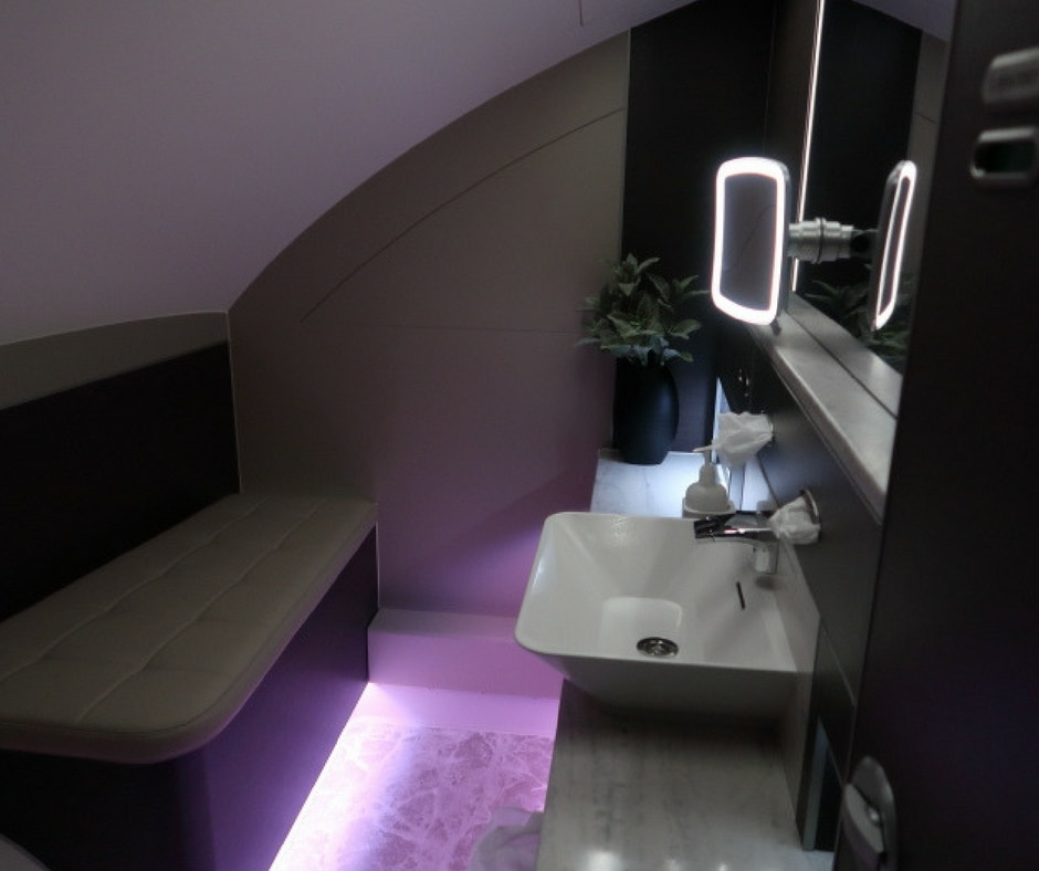 New Singapore Airlines A380 first class suite smaller bathroom