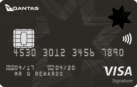 NAB Qantas Rewards Signature Credit Card VISA