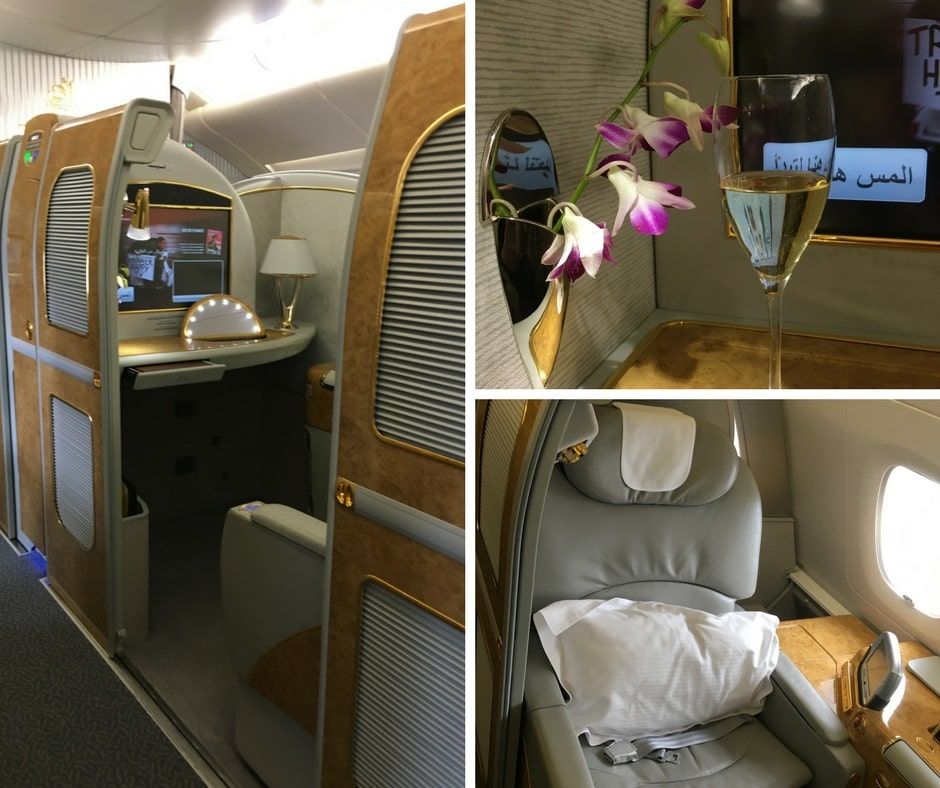 Emirates A380 first class, emirates trans-Tasman