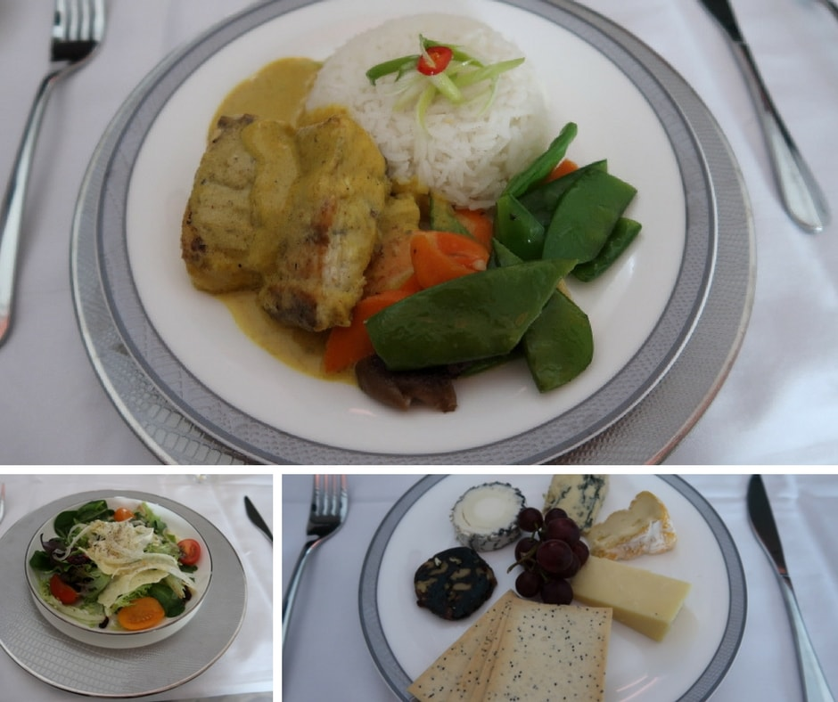 New Singapore Airlines A380 first class suite - main course