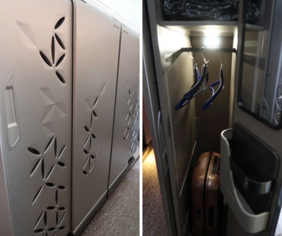 New Singapore Airlines A380 first class suite - sliding doors and wardrobe